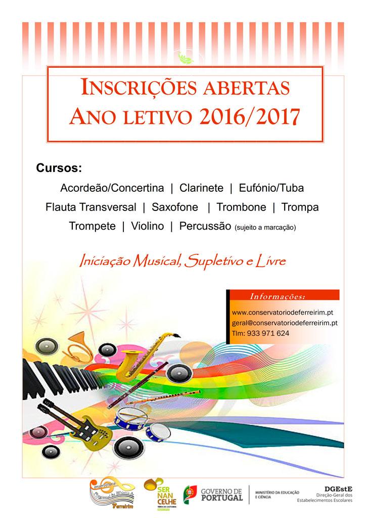 Conservatório de Ferreirim - Inscrições Abertas 2016-2017